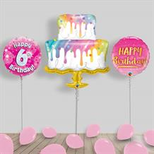 Inflated Happy Birthday Girl | Pink Helium Balloon Package in a Box