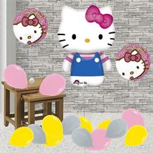 Inflated Hello Kitty Helium Balloon Package in a Box