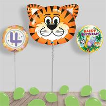 Inflated Jungle | Safari Animals Birthday Helium Balloon Package in a Box