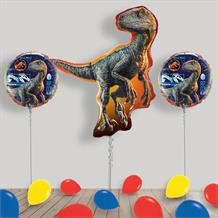 Inflated Jurassic World Helium Balloon Package in a Box