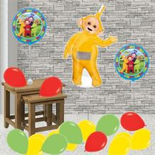 Inflated Teletubbies Laa Laa Helium Balloon Package in a Box