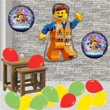 Inflated Lego Movie Emmet Helium Balloon Package in a Box