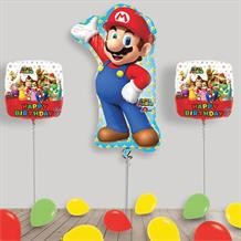 Inflated Super Mario Helium Balloon Package in a Box