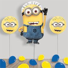 Inflated Minion Despicable Me Helium Balloon Package in a Box