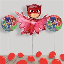 Inflated PJ Masks Owlette Helium Balloon Package in a Box