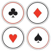 Casino Card Night Party Cup Coasters