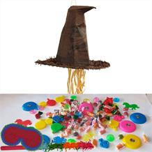 Harry Potter Sorting Hat Pull Pinata Party Kit with Sweets, Favours and Confetti