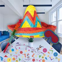 Sombrero Pinata Party Kit with Sweets, Favours and Confetti