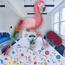 Flamingo Pinata Party Kit with Sweets, Favours and Confetti