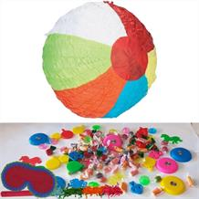 Beach Ball Pinata Party Kit with Sweets, Favours and Confetti