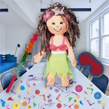 Hula Girl Pinata Party Kit with Sweets, Favours and Confetti