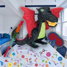 Black Dragon Pinata Party Kit with Sweets, Favours and Confetti