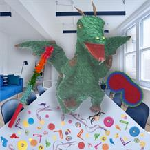 Green Dragon Pinata Party Kit with Sweets, Favours and Confetti