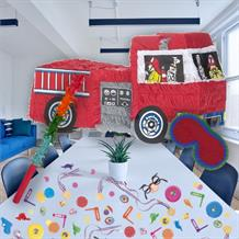 Fire Engine Pinata Party Kit with Sweets, Favours and Confetti