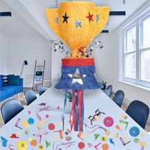 Trophy Pull Pinata Party Kit with Sweets, Favours and Confetti
