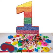 Number 1 Pinata Party Kit with Sweets, Favours and Confetti