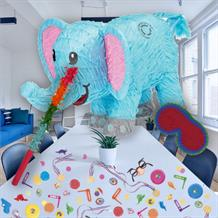 Blue Elephant Pinata Party Kit with Sweets, Favours and Confetti