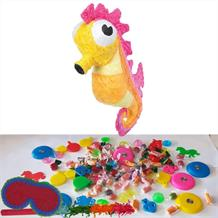 Seahorse Pinata Party Kit with Sweets, Favours and Confetti