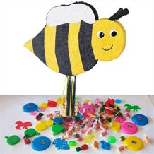 Bumble Bee Pull Pinata Party Kit with Sweets, Favours and Confetti