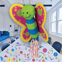 Butterfly Pull Pinata Party Kit with Sweets, Favours and Confetti