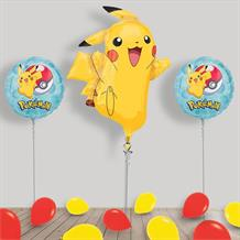 Inflated Pokemon Pikachu Helium Balloon Package in a Box