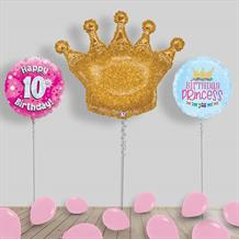 Inflated Princess Birthday Helium Balloon Package in a Box