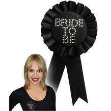 Hen Party | Bride to Be Black Rosette