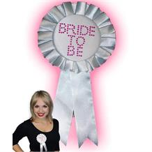 Hen Party | Bride to Be White Rosette