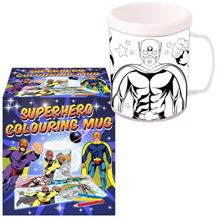 Colour Your Own Superhero Mug | Cup