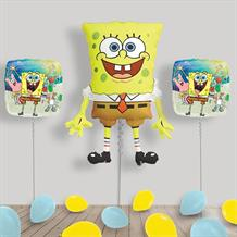 Inflated SpongeBob SquarePants Helium Balloon Package in a Box
