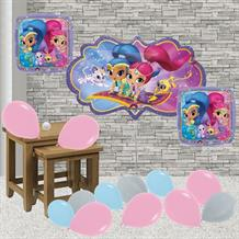 Inflated Shimmer and Shine Helium Balloon Package in a Box