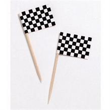 Chequered Flag Racing Party Cake Picks | Decorations