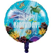 "Ocean Happy Birthday 18"" Foil 