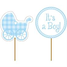 Baby Shower | It's A Boy Party Cake Topper Picks