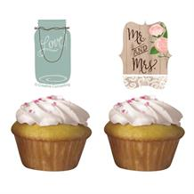 Rustic Wedding Cupcake Topper Kit | Decoration