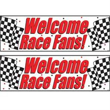 Chequered Flag Racing Race Fans Party Banner | Decoration