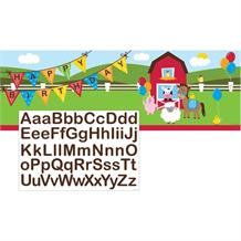 Farmhouse Fun Giant Happy Birthday Banner | Decoration