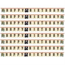 Pirate Map Happy Birthday Party Ribbon Banner | Decoration