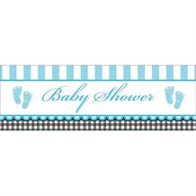 Sweet Baby Feet Blue Party Banner | Decoration