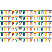 Block | Brick Party Happy Birthday Letter Banner | Decoration