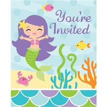 Mermaid Friends Party Invitations | Invites