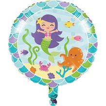 "Mermaid Friends Party 17"" Foil Helium Balloon"