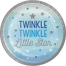 Blue Twinkle Star 23cm Party Plates