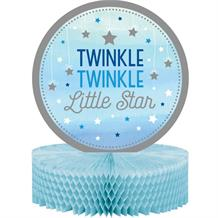Blue Twinkle Star Party Honeycomb Table Centrepiece | Decoration