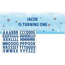 Blue Twinkle Star Giant Personalisable Banner