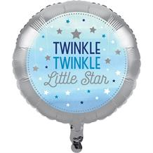 Blue Twinkle Star Foil | Helium Party Balloon