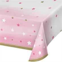 Pink Twinkle Star Party Tablecover | Tablecloth