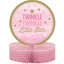 Pink Twinkle Star Party Honeycomb Table Centrepiece | Decoration