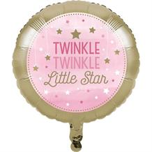 Pink Twinkle Star Foil | Helium Party Balloon