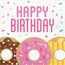 Doughnut Time Party Happy Birthday Napkins | Serviettes